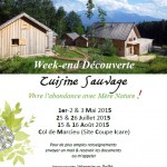 Affiche Stage Cuisine Sauvage 2015